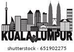 kuala lumpur malaysia city...   Shutterstock .eps vector #651902275