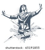 grunge gang design with bizarre ...   Shutterstock .eps vector #65191855