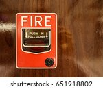 fire alarm a picture of fire... | Shutterstock . vector #651918802