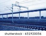 electric railway contact net... | Shutterstock . vector #651920056