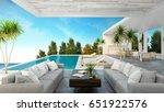 a modern beach house   private ... | Shutterstock . vector #651922576