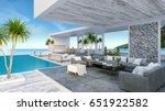 a modern beach house   private ... | Shutterstock . vector #651922582