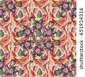 vector flower illustration.... | Shutterstock .eps vector #651924316