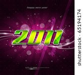 happy new year 2011 | Shutterstock .eps vector #65194174
