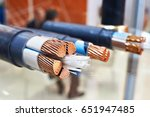 large copper power cable in... | Shutterstock . vector #651947485