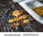 grilled squid | Shutterstock . vector #651951472