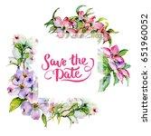 wildflower dogwood flower frame ... | Shutterstock . vector #651960052