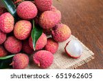 a cluster of reddish lychee... | Shutterstock . vector #651962605