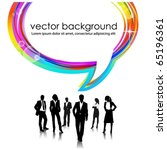 business people team with... | Shutterstock .eps vector #65196361