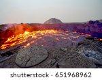 erta ale shield volcano in... | Shutterstock . vector #651968962
