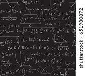 vector seamless math pattern....   Shutterstock .eps vector #651980872