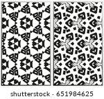 vector monochrome seamless... | Shutterstock .eps vector #651984625
