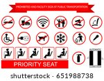 prohibited sign at public... | Shutterstock .eps vector #651988738