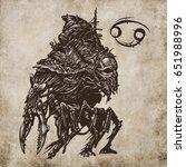 cancer horoscope sign ... | Shutterstock . vector #651988996