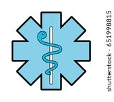 blue caduceus medical shield | Shutterstock .eps vector #651998815