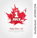 1 july. happy canada day... | Shutterstock .eps vector #652001236