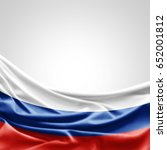 russia flag of silk with... | Shutterstock . vector #652001812