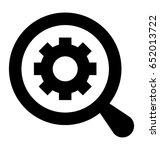 settings glyph vector icon   Shutterstock .eps vector #652013722