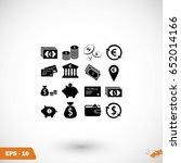 finance icons vector  flat... | Shutterstock .eps vector #652014166