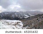 landscape of winter - stock photo