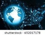 best internet concept of global ...   Shutterstock . vector #652017178