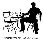 editable vector silhouette of a ... | Shutterstock .eps vector #652019662