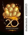 20 anniversary logo celebration ... | Shutterstock .eps vector #652020925