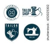 set of tailor labels emblems.... | Shutterstock .eps vector #652025302