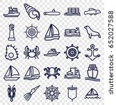 Marine Icons Set. Set Of 25...