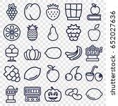 fruit icons set. set of 25... | Shutterstock .eps vector #652027636