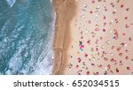 tropical beach with colorful... | Shutterstock . vector #652034515