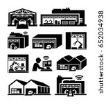industrial buildings vector... | Shutterstock .eps vector #652034938