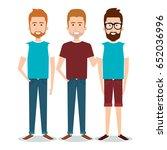 standing people set | Shutterstock .eps vector #652036996