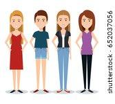 standing people set   Shutterstock .eps vector #652037056