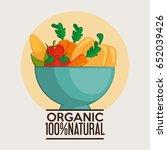 organic vegetables design | Shutterstock .eps vector #652039426