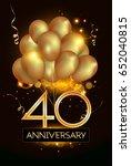 40 anniversary logo celebration ... | Shutterstock .eps vector #652040815