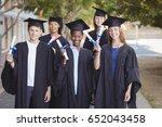 portrait of graduate school... | Shutterstock . vector #652043458