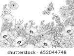 vector floral background  page... | Shutterstock .eps vector #652044748