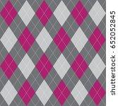 seamless argyle pattern pink...   Shutterstock .eps vector #652052845