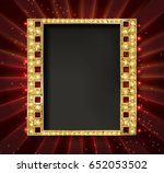 gold film on the curtain... | Shutterstock .eps vector #652053502