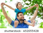 father and son  | Shutterstock . vector #652055428