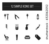 set of 12 editable coiffeur...