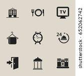 set of 9 editable hotel icons....