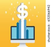 dollar pop up on screen... | Shutterstock .eps vector #652066942