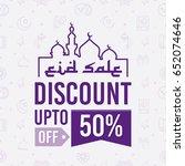 creative eid sale poster ...   Shutterstock .eps vector #652074646