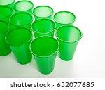 plastic glasses isolated on... | Shutterstock . vector #652077685