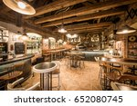 modern european restaurant with ... | Shutterstock . vector #652080745