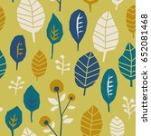 seamless pattern with leaves | Shutterstock .eps vector #652081468