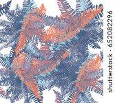 tropical leaves seamless... | Shutterstock .eps vector #652082296
