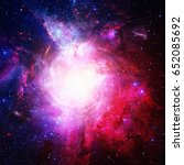 beautiful nebula  stars and... | Shutterstock . vector #652085692